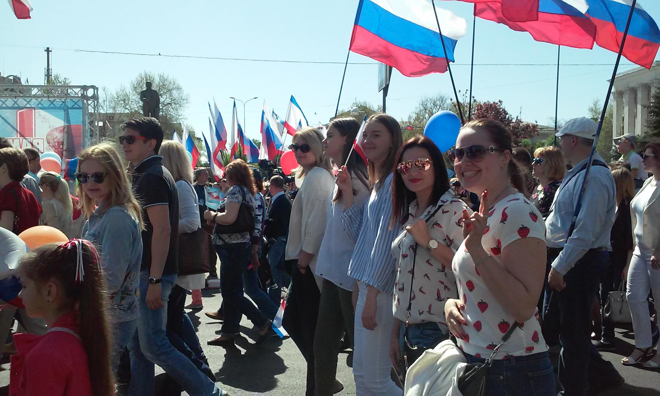 Сотрудники службы капитального строительства Республики Крым приняли участие в праздничных мероприятиях, посвященных Празднику Весны и Труда